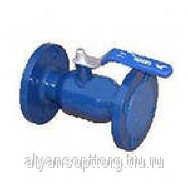 кран стальной фланцевый шаровой с нержавеющим шаром